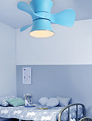 cheap -59 cm Dimmable Geometric Shapes Ceiling Fan Metal Mini Painted Finishes Modern Nordic Style 110-120V 220-240V