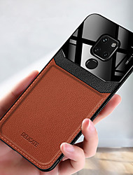 cheap -Luxury Leather Phone Case For Huawei Mate 30 Pro Mate 20 Pro V30 Pro V20 Mate 20X Mate 20 Lite Soft TPU Shockproof Back Cover Acrylic Camera Protection