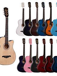 Недорогие -Гитара Цветной для начинающих деревянный Дерево 38 Inch Профессиональный музыкальный инструмент для начинающих и молодых студентов