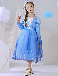 cheap -A-Line Ankle Length Event / Party / Birthday Flower Girl Dresses - Polyester Long Sleeve Square Neck with Paillette