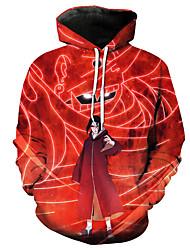 cheap -Inspired by Naruto Naruto Uzumaki Cosplay Costume Hoodie Pure Cotton Print Printing Hoodie For Women's / Men's