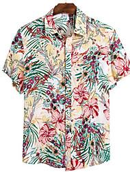 cheap -Men's Geometric Shirt Sports Blushing Pink / Short Sleeve