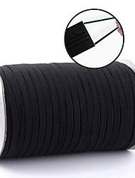 cheap -Top Hunter White 90-Yards Length 3mm/5mm/6mm Width Braided Elastic Cord/Elastic Band/Elastic Rope/Bungee/White Heavy Stretch Knit Elastic Spool
