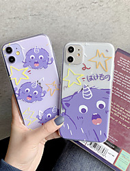 cheap -Case For Apple iPhone 11 11 Pro 11 Pro Max Graffiti pattern TPU transparent material painting process scratch-resistant mobile phone case