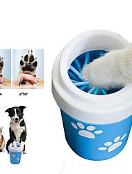 Недорогие -Собака кошка лапа чашка для маленьких собак домашнее животное стиральная машина для ног портативный кошка грязная лапа чашка для очистки мягкий силиконовый инструмент для мытья ног