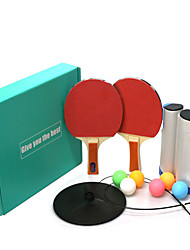 cheap -Table Tennis Training Aids Table Tennis Trainer Indoor Table Tennis Portable Anti-Wear Durable 1 set 1 x J Type Base 2 * Ping Pong Paddles 1*Ping Pong net 1* Shaft Sports