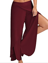 cheap -Women's Sporty Slim Chinos Pants - Solid Colored Wine White Black S / M / L