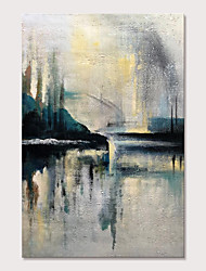 cheap -Oil Painting Hand Painted Vertical Abstract Abstract Landscape Modern Rolled Canvas (No Frame)