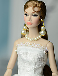 cheap -Doll accessories Elegant & Luxurious Wedding Pearl Acrylic Plastic Decoration Handmade Toy for Girl's Birthday Gifts  / Kids