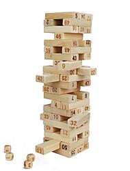 Недорогие -48 pcs Настольные игры Игры с блоками Деревянные блоки Башни из деревянных блоков Мини Для профессионалов деревянный Классика Детские Взрослые Игрушки Подарок