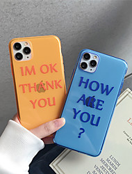 cheap -Case For Apple iPhone 11 11 Pro 11 Pro Max Fluorescent fruit pattern TPU transparent material Painting process Scratch-resistant mobile phone case