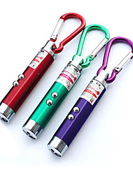 cheap -3pcs  Mini Climbing Buckle Laser Pen Pointer LED Flashlight UV Torch Light With Keychain Working Camping Pocket LED Pen Random Color