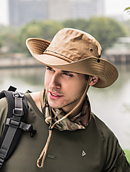 cheap -Sun Hat Fishing Hat Fisherman Hat Hat 1 PCS Portable Sunscreen UV Resistant Breathable Solid Color Polyester Autumn / Fall Spring Summer for Men's Women's Camping / Hiking Hunting Fishing Purple Army