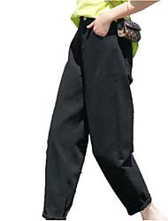Недорогие -Жен. Классический Чино Брюки - Однотонный Военно-зеленный Хаки Белый XS S M
