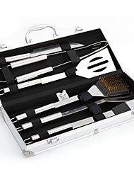 cheap -Factory Direct Sales 6-piece Stainless Steel Grills Barbecue Tool Set Bbq Outdoor Barbecue Utensils Aluminum Box