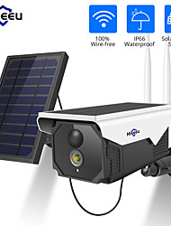 Недорогие -hiseeu ft5c-tz 1080p 2 мп солнечная камера беспроводная батарея ночного видения ip-камера wifi 2-мегапиксельная водонепроницаемая аккумуляторная камера безопасности с солнечной панелью pir обнаружить