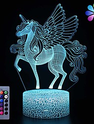 cheap -Unicorn Night Light for KidsDimmable LED Nightlight Bedside Lamp16 Colors7 Colors ChangingTouch&Remote ControlBest Unicorn Toys Birthday Christmas Gifts for Girls Boys (Unicorn)
