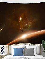 cheap -Outer Space Planet Moon Earth Stars Wall Hanging Wall Tapestry Home Art Decor Wall Decor for Kids Babys Children Bedroom Rooms Ceiling Living Room Nursery School