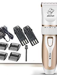 Недорогие -Кошка Собака Уход Машинка для стрижки волос Набор инструментов Pet Hair Remover Стрижка машинки для стрижки Без шнура пластик Машинки для стрижки и триммеры Безпроводнлй Низкий шум Электрический