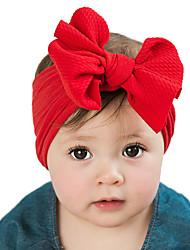 Недорогие -Ткань Хайратники Durag Для детской Бант Эластичность Назначение Новорожденный Праздники Стиль Активный Цвет фуксиии розовый Молочно-зелёный крем 1 шт.