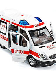 cheap -1:32 Toy Car Model Car Ambulance Vehicle Music & Light Pull Back Vehicles Metal Alloy Mini Car Vehicles Toys for Party Favor or Kids Birthday Gift 1 pcs