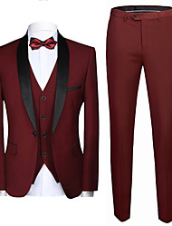 cheap -Tuxedos Tailored Fit Shawl Collar Single Breasted One-button Polyester Textured / Fashion