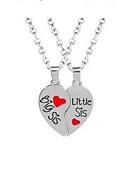 cheap -Women's Pendant Necklace Heart Letter Trendy Sweet Chrome Silver 45 cm Necklace Jewelry For Gift Daily School Street