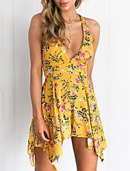 Недорогие -летнее цветочное мини-платье