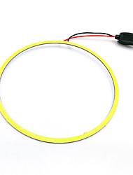 cheap -LED COB Angel Eyes Led Halo Ring Car Daytime Running Light Lamp 90mm White Blue 12V 24V DC 2pc