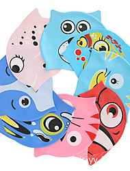 cheap -Swim Cap for Kids Silicone Soft Stretchy Comfortable Swimming Watersports