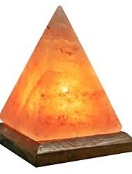 cheap -Pyramid LED Himalayan air purifying Salt Lamp Night Light Stylish Wood Base Creative USB 1pc