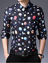 cheap -Men's Polka Dot Shirt Sports Black / Long Sleeve