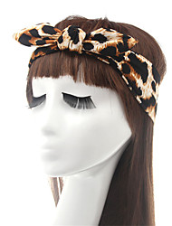 cheap -Fabric Headbands Durag Sports Adjustable Bowknot For Holiday Street Sporty Simple Leopard Black / White 1 Piece / Women's