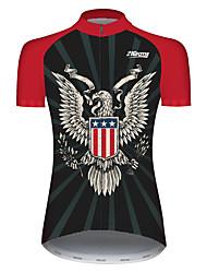 Недорогие -21Grams Жен. С короткими рукавами Велокофты Черный / красный Животное Американский / США Eagle Велоспорт Джерси Верхняя часть Горные велосипеды Шоссейные велосипеды / Эластичная / Быстровысыхающий
