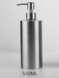 cheap -Push-on 304 Stainless Steel Cylindrical Lotion Bar Bar Toilet Hand Sanitizer Storage Bottle