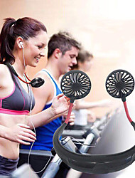 cheap -Neckband Fan Sports Fan USB Rechargeable Portable Ultra Light (UL) Silica Gel ABS Perfect for Exercise Fitness Home Office Travel Indoor Outdoor Activities Black Green White Blue Pink