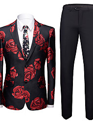 cheap -Tuxedos Tailored Fit Notch Single Breasted Two-buttons Polyester Textured / Fashion