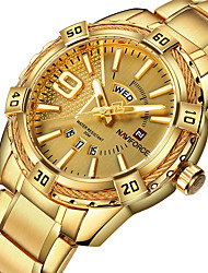cheap -NAVIFORCE Men's Dress Watch Analog Quartz Formal Style Stylish Luxury Water Resistant / Waterproof Calendar / date / day Casual Watch
