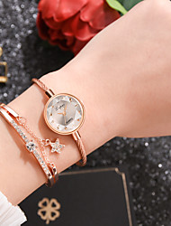 cheap -Women's Quartz Watches Quartz Stylish Fashion Casual Watch Blue / Grey / Pink Analog - Rose Gold White Blue One Year Battery Life