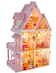 cheap -Furniture DIY Wooden CUTE ROOM Party Favors, Science Gift Education Toys for Kids and Adults