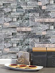Недорогие -20x10cmx9pcs темно-серый камень кирпичные стены наклейки ретро маслостойкие водонепроницаемые плитки обои для кухни ванная комната земля стены украшения дома