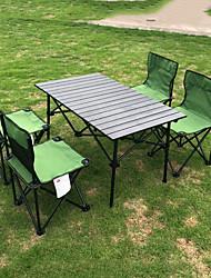 Недорогие -открытый алюминиевый сплав складной стол и стул набор для нескольких человек складной стол и стул для барбекю кемпинг самостоятельного вождения оборудование набор стульев