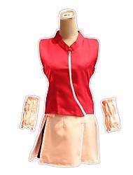 levne -Inspirovaný Naruto Sakura Haruno Anime Cosplay kostýmy japonština Úbory Vrchní deska Sukně Tričko Pro Pánské Dámské / Kolluk