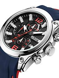 Недорогие -Megir мужские часы роскошный хронограф водонепроницаемый спортивные мужские часы резиновые военные армейские наручные часы