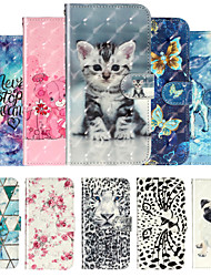 cheap -Case For Moto G7 Power G7 Play Phone Case PU Leather Material 3D Painting Phone Case for G7 P40 G8 Play G8 Plus