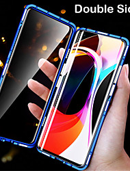 cheap -Magnetic Double Sided Case For Huawei Huawei P30 Pro / Mate 30 / Mate 30 Pro Shockproof / Magnetic Full Body Cases Solid Colored Tempered Glass / Metal