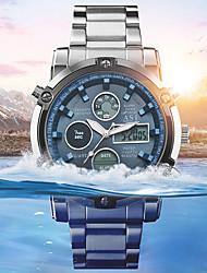 Недорогие -Муж. Спортивные часы Армейские часы электронные часы Цифровой Нержавеющая сталь Черный / Серебристый металл 30 m Защита от влаги Будильник Секундомер Аналого-цифровые На каждый день Мода -