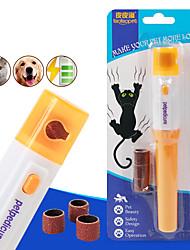 cheap -Dog Cat Nail Grinder Plastic Nail Clipper Nail File Portable Pet Grooming Supplies Random Color