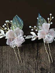 cheap -Beads / Alloy Hair Tool / Hair Stick / Hair Accessory with Floral One Pair × 2 Wedding / Party / Evening Headpiece