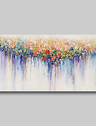 cheap -Oil Painting Hand Painted - Abstract Comtemporary Modern Stretched Canvas Nude Girls